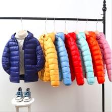 цены Kids Winter Jacket Coats Baby Girls Boys Parka Coat Kids Down Jacket Hood Winter Children Jacket Spring Fall Toddler Outerwear