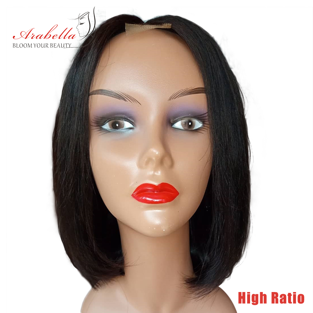 2*6 Kim K Wig Middle Part Brazilian Remy Straight Hair Wig Arabella Pre Plucked Bleached Knots High Ratio Human Hair Wigs