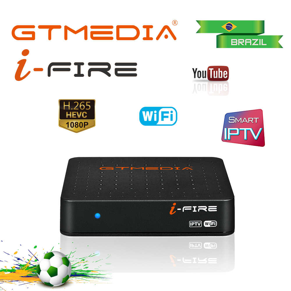 Gtmedia Ifire Iptv Tv Box 4K Hdr Stb Doos Ultra Hd Wifi Ondersteuning Xtream Youtube Set Top Box Media speler Internet Br