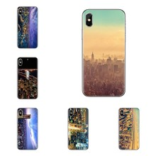 TPU Covers Worlds City Landscape Aerial View For Huawei Honor 7X V10 6C V9 6A Play 9 Mate 10 Pro Y7 Y5 P8 P10 Lite Plus GR5 2017(China)