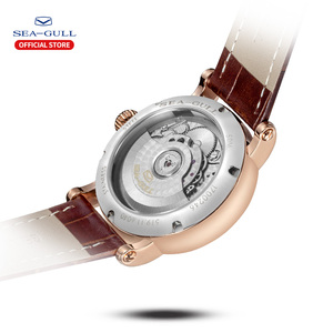 Image 3 - SEA GULL Business Watches Mens Mechanical Wristwatches  Calendar 30m Waterproof Leather Valentine Male Watches 519.11.6040