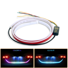 Luz trasera de maletero de coche, lámpara de advertencia intermitente trasero, dinámica, tira LED flotante, 4 Funciones, 12V, 1,2 M