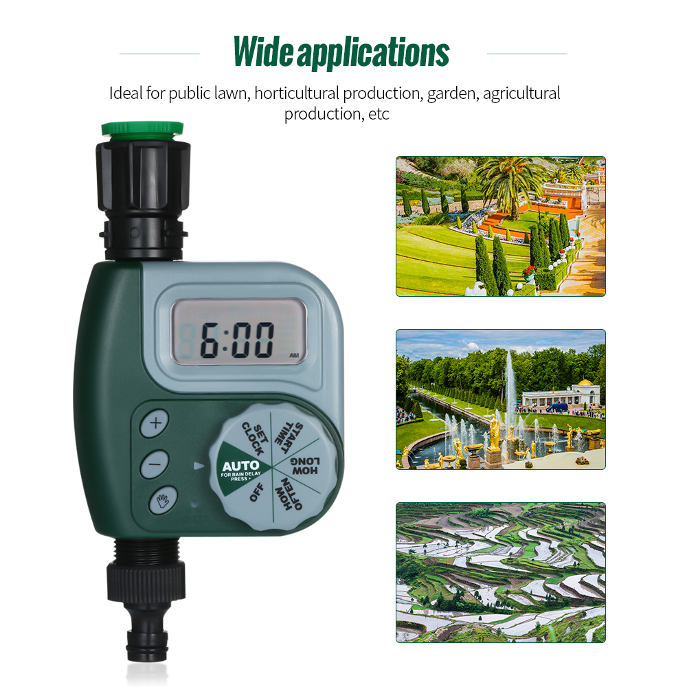 Image 2 - Automatic Water Timer Outdoor Garden Irrigation Controller 1 Outlet Programmable Hose Faucet Timer Garden Watering Device-in Flow Meters from Tools