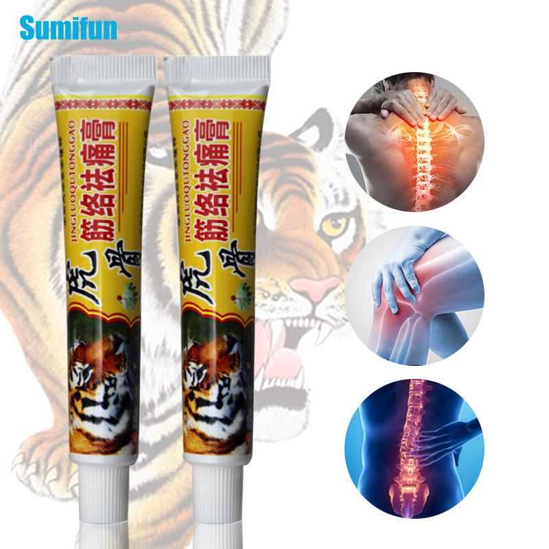 1Pcs Tiger Rheumatoid Pain Relief Ointment 100% Original Herbal Cream Arthritis Joint Muscle Rub Medical Plaster P1070