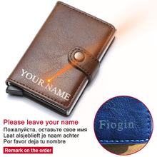 Rfid Card Holder Men Wallets Genuine Leather Money Bag Male Vintage Short Purse Small Thin Slim Wallets Mini Wallet Smart