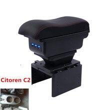 Для Citoren C2 подлокотник коробка универсальный автомобиль центральной консоли модификации аксессуары двойной поднят с USB