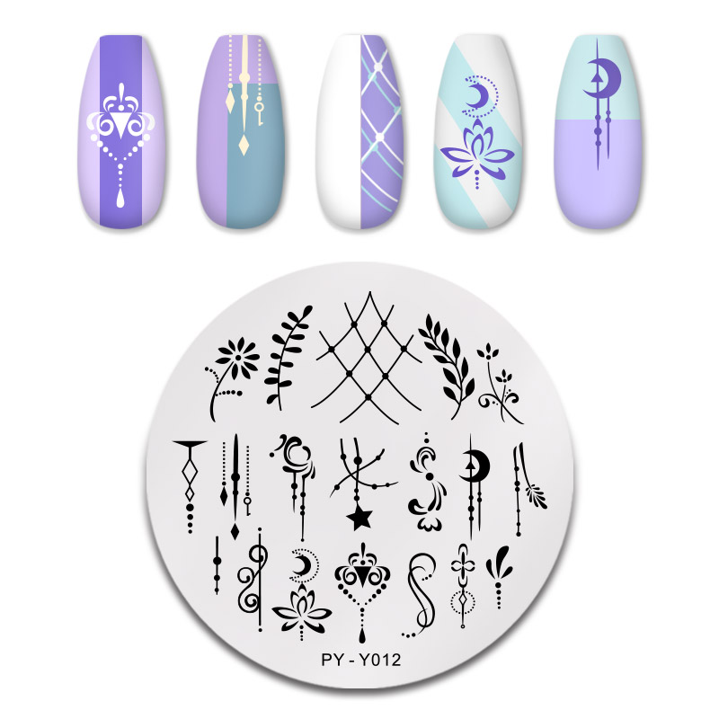 PICT YOU 12*6cm Nail Art Templates Stamping Plate Design Flower Animal Glass Temperature Lace Stamp Templates Plates Image 35