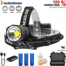 3 modes XHP-70.2 led Headlamp Fishing Camping headlight High Power lantern Head Lamp Zoomable USB Torches Flashlight 18650