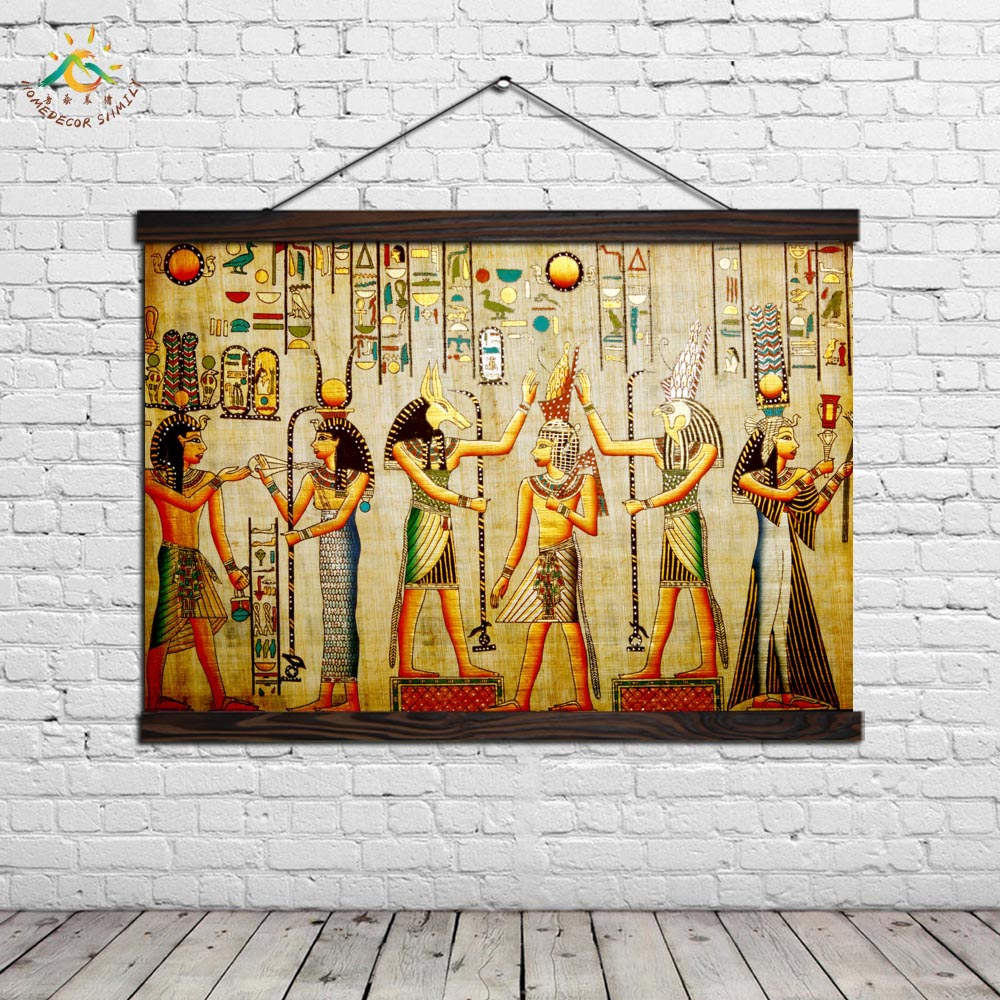 Traditional Figure Wall Art Painting Modern Canvas Painting Posters and Prints Vintage Pictures Scroll Frames Art Home Decor in Painting Calligraphy from Home Garden