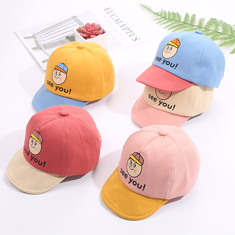 H1ec610f05b99464ca6e25647dd659088E - Baby Hat Cute Bear Embroidered Kids Girl Boy Caps Cotton Adjustable Newborn Baseball Cap Infant Toddler Beach Outdoor Sun Hat