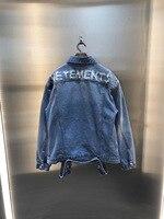 2020ss Best Quality Back Destroyed Vetements Denim Jackets Men Women Hiphop Vetements Patchwork Men Cotton Jean Jacket Coats