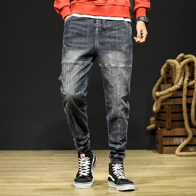 Mens Jeans Joggers Pants Fashion Desinger Baggy Tapered Loose-fit Streetwear Moto Jeans Casual Denim Jogger Pants Plus Size 42 13