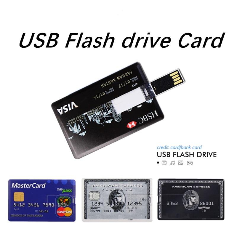 pendrive Bank Credit Card u disk new Waterproof Memory Stick drive 4GB 8GB 16GB 32GB 64GB 128GB USB Flash Drive free custom logo in USB Flash Drives from Computer Office