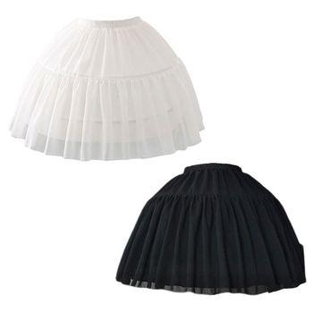 Free shipping Cosplay Fish-bone Short Skirt Lolita Carmen Slip Liner Cute Girls Skirts Adjustable Petticoat - discount item  21% OFF Wedding Accessories