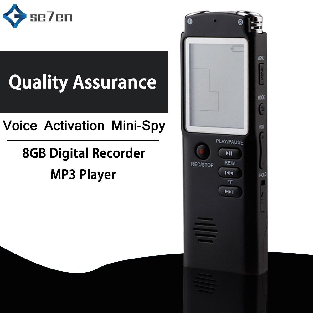 8 ГБ диктофон USB Профессиональный 96 часов диктофон цифровой Аудио Диктофон с WAV, mp3 плеер