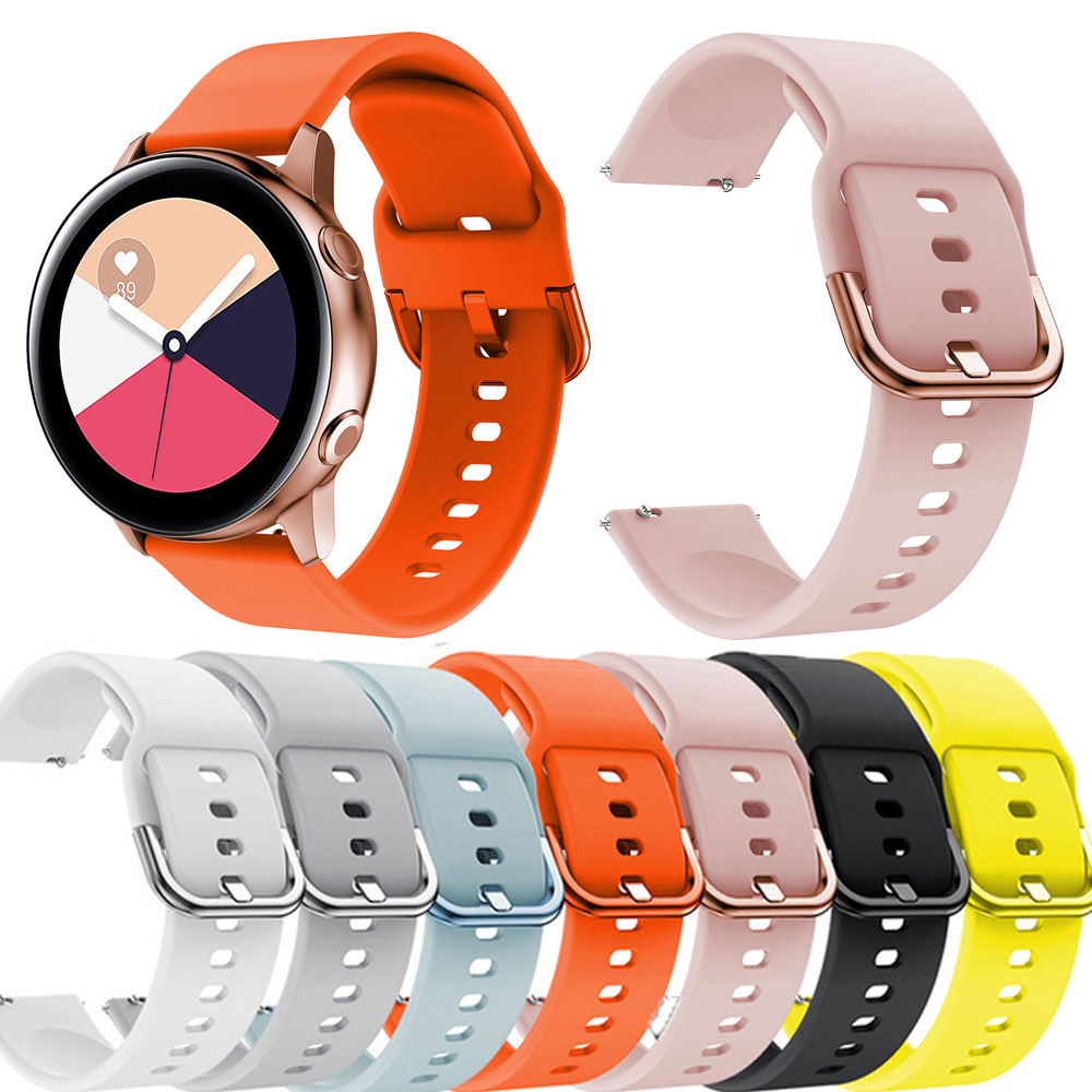 Silicone Correa Original sport bands smart watches Galaxy watch active watchstrap For Samsung Galaxy watch 42mm Bracelet strap in Smart Accessories from Consumer Electronics