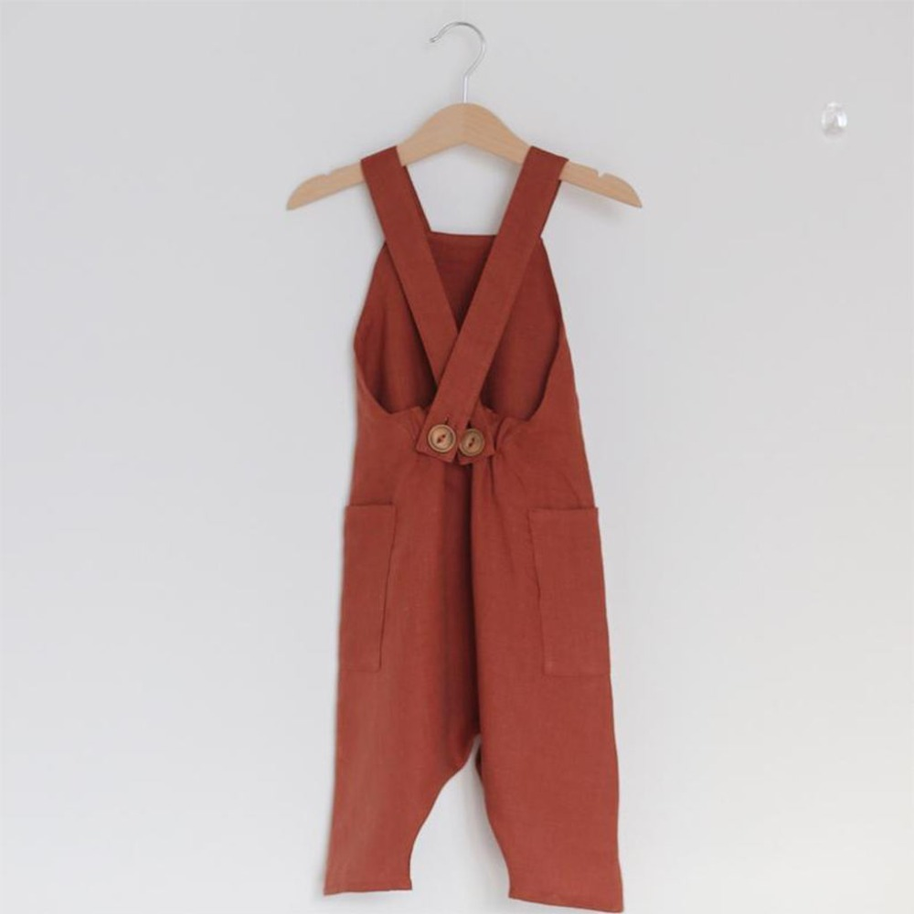 Solid Colored Pocket Cotton Romper