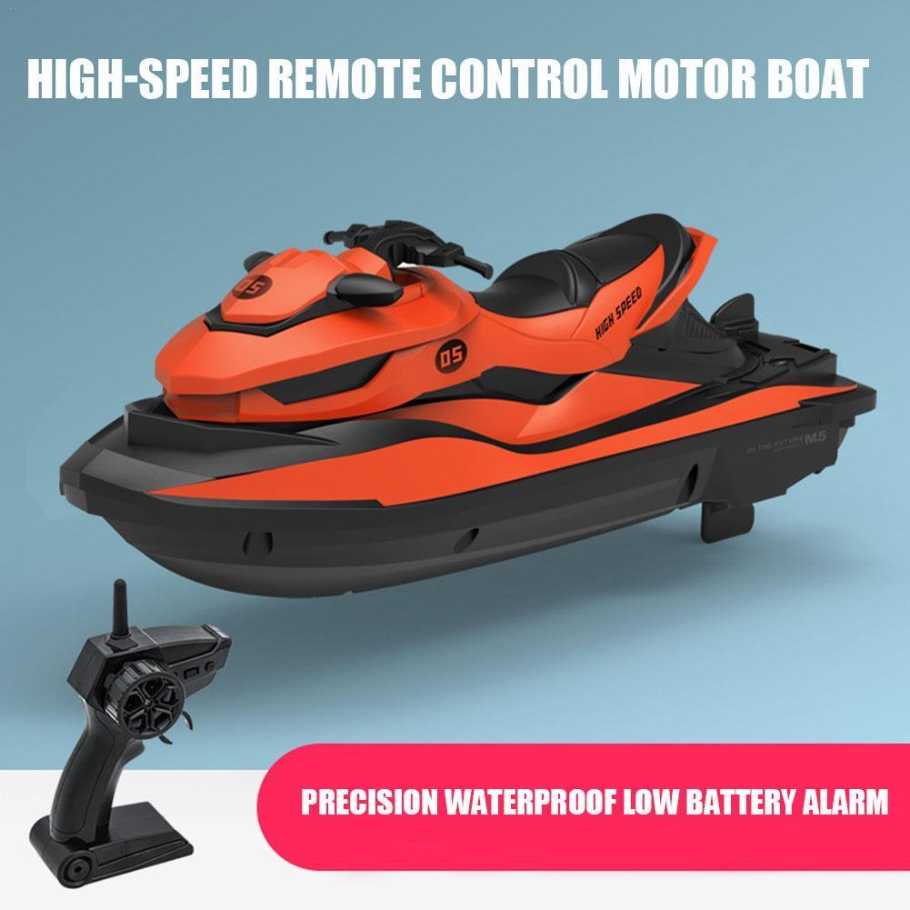 M5 2.4G Mini Remote Control Yacht RC Boat Motorboat Learning Model Toy Children's Educational Summer For Water Toy B9C2