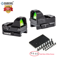MARCOOL Tactical Optical Weaver Bar Red Dot Sight Scope With Glock Pistol Picatinny and Glock Mount For Hunting