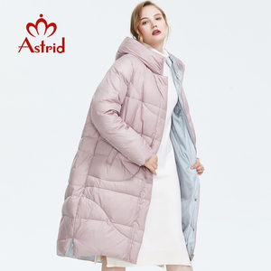 Image 2 - Astrid 2019 Winter new arrival down jacket women outerwear high quality long style thick cotton warm women winter coat AR 6596