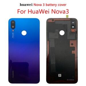 Оригинальная Стеклянная Крышка батарейного отсека для Huawei Nova 3, задняя панель, задняя крышка корпуса для Huawei Nova 3, Крышка батарейного отсека|Корпусы и рамки для мобильных телефонов|   | АлиЭкспресс