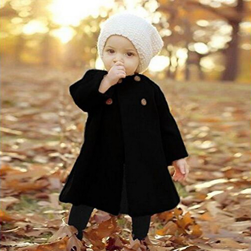2020 Autumn And Winter New Children's Baby Jacket Long-sleeved Button Girl Coat Middle And Small Children Windbreaker