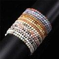 Миниатюрный Энергетический Браслет 4 мм, браслет с бусинами из натурального камня для женщин и мужчин, браслет для йоги, медитации, браслеты,...