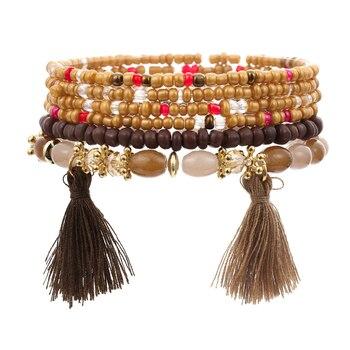 Women's Boho Style Stone Charm Bracelet Bracelets Jewelry New Arrivals Women Jewelry Metal Color: SL1517