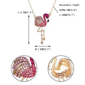Image 5 - Tuliper Подвеска Flamingo Ketting Crystal Animal Hanger Voor Vrouwen Partij Sieraden Collier Collares Bijoux 목걸이 Femme Slinger