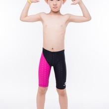 Children Swimsuit Plus Size Tight Swimming Trunks Quick Dry Pool Swim Shorts Training Swimwear for Boys Competition Swim Jammer