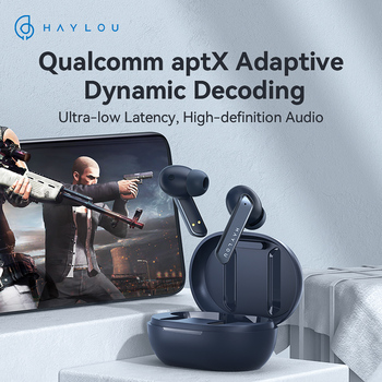 [World Premiere] Haylou W1 QCC 3040 Bluetooth 5.2 Earphones,Apt-X/AAC Moving iron + Moving coil Sound Wireless Earphones 1