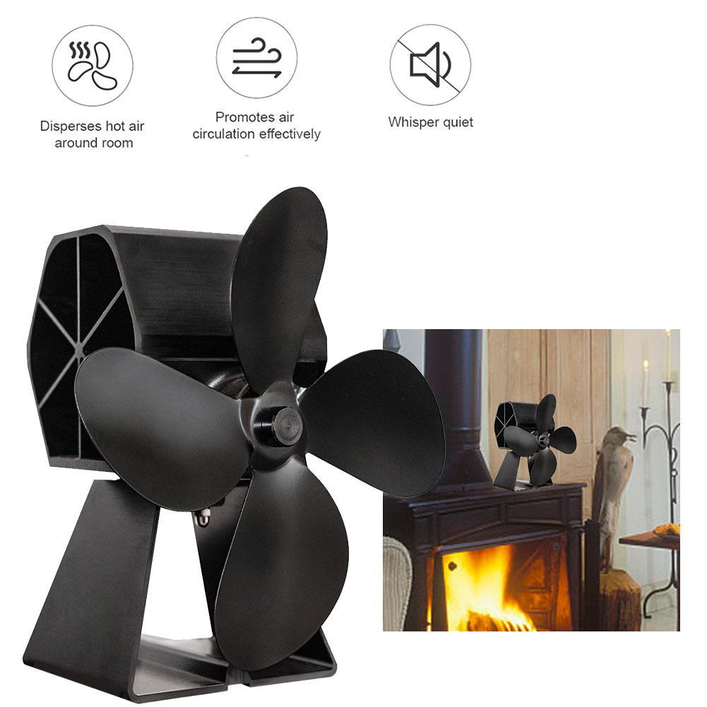Thermal Power Fireplace Fan Heat Powered Stove Fan Hot Power Heat Furnace Fan For Wood Log Burner Fireplace