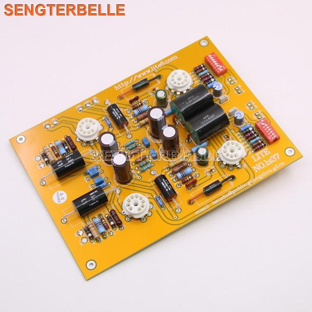 조립 LS37 튜브 포노 앰프 보드 MM & MC 듀얼 입력 12AX7 튜브 포노 앰프 오디오