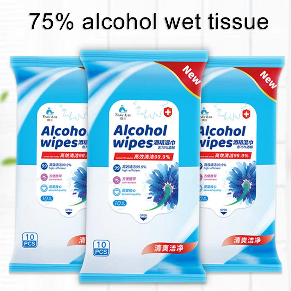 5 Pack Sterilization Disinfection Antibacterial Alcohol Wet Wipes Paper Tissue Home Skin Cleanser Sterilization
