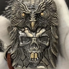 LDD часы видео ручной работы 3d Сова череп голова перо латунь 260 г Зажигалка художественная коллекция