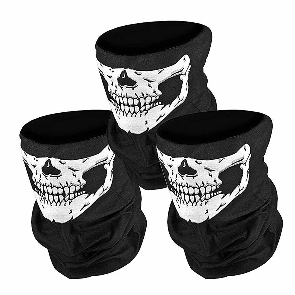 Fiets Ski Skull Half Face Mask Ghost Sjaal Multi Use Neck Warmer Winter Cod Fietsen Fietsen Biker Sport Accessoires Winddicht