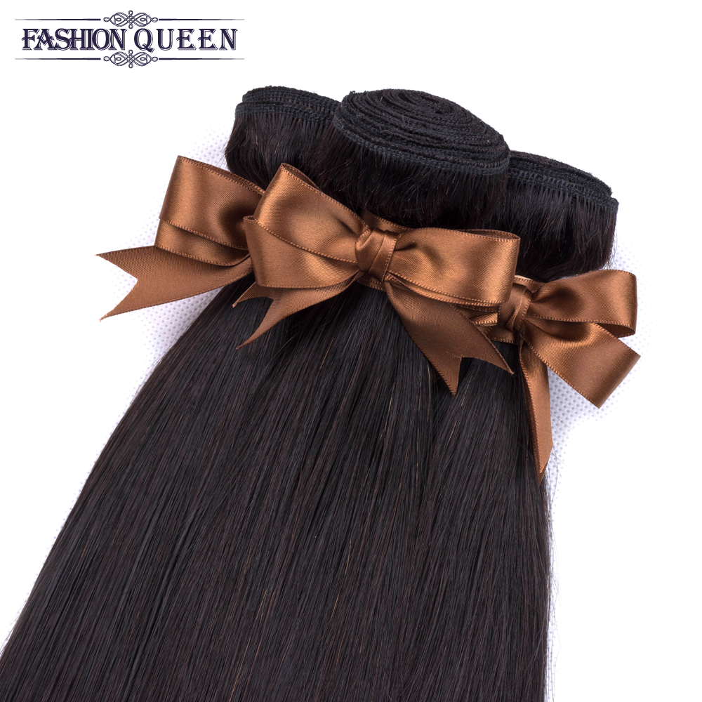 H1ec81ebe25e246e59b685ddd87648ae4I 3 Bundles With Frontal Brazilian Straight Human Hair Weave Bundles With Closure Lace Frontal Non Remy Hair Fashion Queen