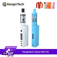 Oryginalny Kanger Subox Mini zestaw startowy elektroniczne papierosy 50W Kbox Mini box mod z 4 5ml Subtank Mini Atomizer VS LUXE S tanie tanio Elektryczne Mod 3500 mAh Metal Kangertech Subox Mini Starter kit 18650 22mm 7-50W