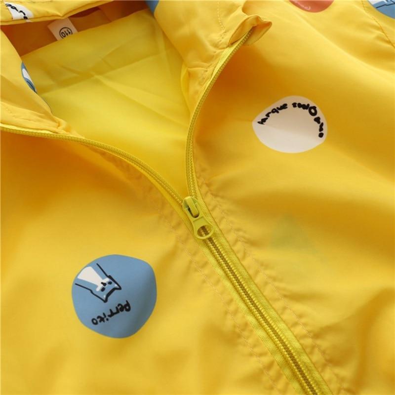 CROAL CHERIE Cute Dot Animal Fall Kids Boy Jacket For Girls Trech Coat Children Clothing Hooded Windbreaker Outerwear Clothes (5)