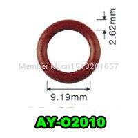 Freies verschiffen 100 einheit großhandel gummi o ringe dichtung für bosch kraftstoff injektor reparatur kits größe 9.19*2,62mm AY O2010