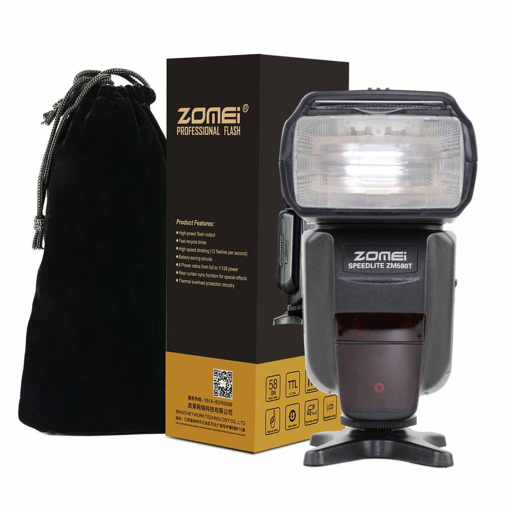 Zomei ZM-580T אוטומטי פוקוס Speedlite TTL פלאש Speedlite גבוהה מהירות סנכרון מצלמה פלאש עם רדיו סלייב לניקון DSRL מצלמות