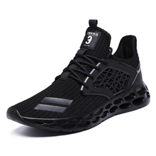 купить 2019 New Men Air Mesh Running Shoes Breathable Non-slip Wear Basket Sneakers Outdoor Athletic Brand Off White Sport Shoes Male дешево