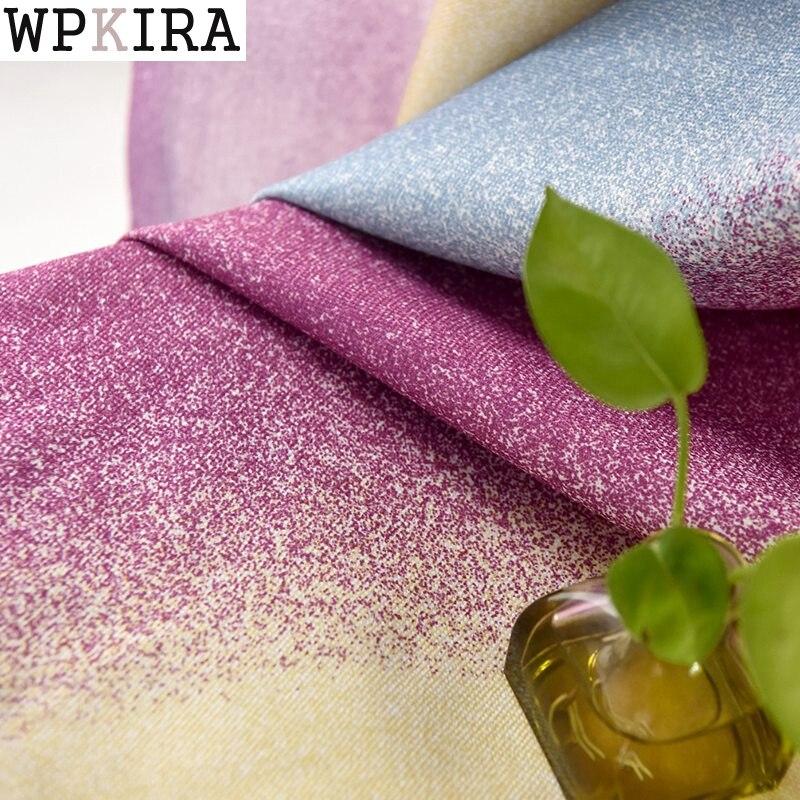 Pembe mor çizgili bluckout perdeleri oturma odası için kahverengi akdeniz perde yatak odası pencere perdeleri s086 & 30