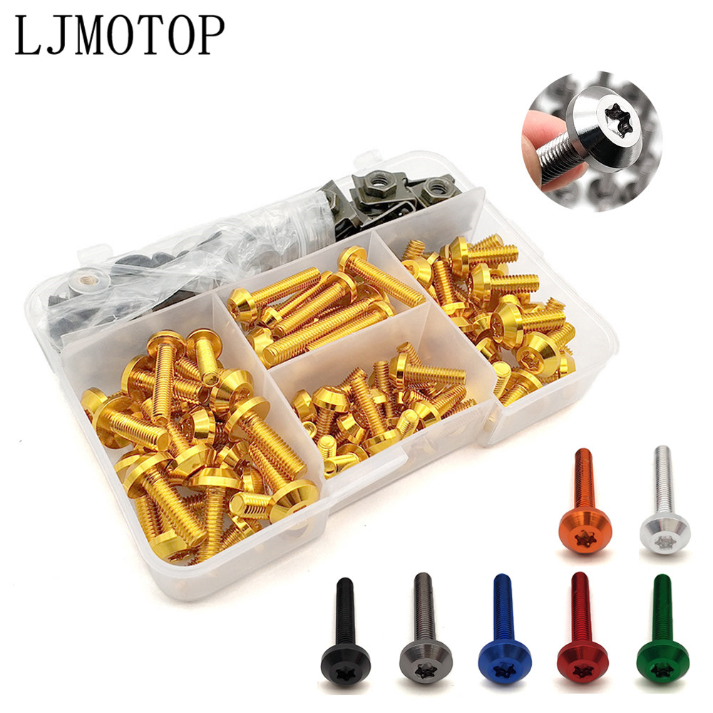Motorcycle Fairing Bolt Nuts <font><b>Kit</b></font> <font><b>Body</b></font> Fastener Screws For <font><b>Yamaha</b></font> TMAX 500 530 XP 500 530 FZR 600 YZF R3 R25 <font><b>R6</b></font> 600R FZ600 image