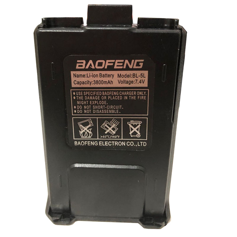 Original Baofeng UV-5R Walkie Talkie Large Capacity Battery BL-5L 7.4v 3800mAh For BF-F8 UV-5RA UV-5RE DM-5R UV5R UV5RE Charger (2)