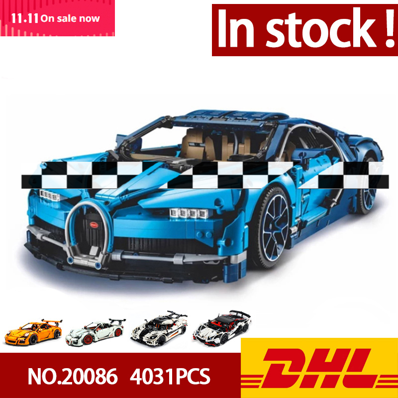 In Stock DHL 20086 <font><b>20001</b></font> 20001B 23006 20087 Technic Series Car Model Building <font><b>Blocks</b></font> Bricks Compatible 42083 Gifts Toys image