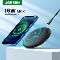 Caricabatterie Wireless Ugreen per iPhone 13 12 X Xs Xr 8 15W Qi Pad di ricarica Wireless veloce per Samsung S10 S9 nota 9 Xiaomi Charge