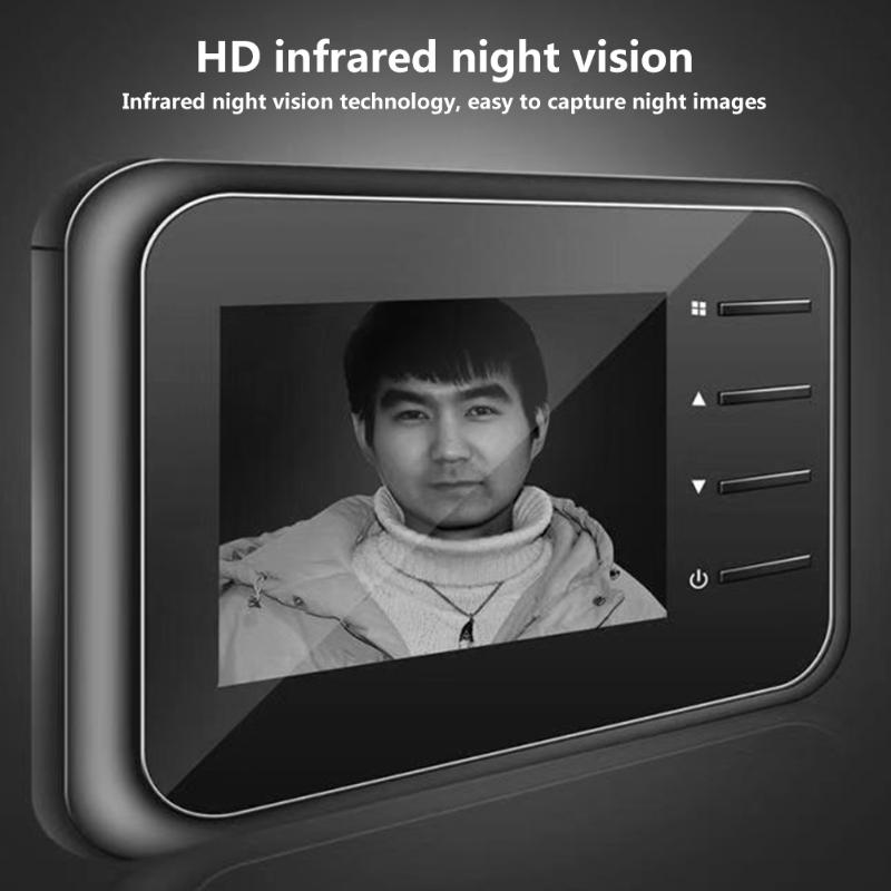 Smart Power Saving 2.4 Inch HD Infrared Night Vision Camera IPS Display Security Household Doorbell Intelligent Device