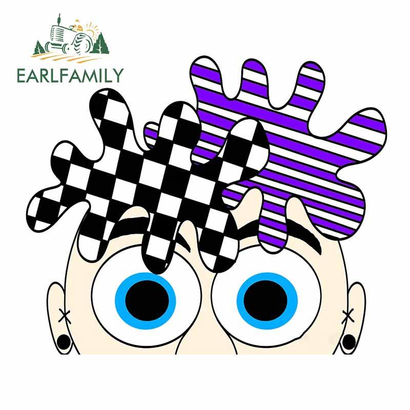 EARLFAMILY 13cm x 11cm dla Razy włosy Goofy Punky Cartoon naklejka wodoodporna odporna na zarysowania naklejki samochodowe dekoracja lodówki