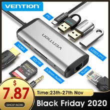 Vention USB C HUB type c do 4K HDMI RJ45 VGA USB 3.0 HUB Dock dla MacBook Pro Huawei Mate 30 USB C 3.1 Splitter Port USB C HUB